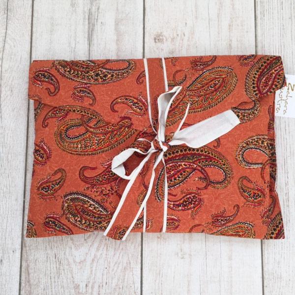 Albornoz Kimono estilo japonés naranja zahara bolsa