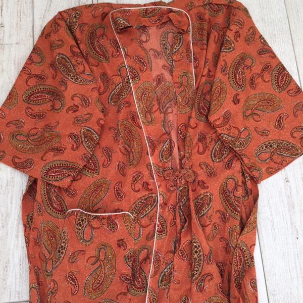 Albornoz Kimono estilo japonés naranja zahara