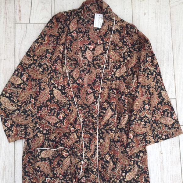 Albornoz Kimono estilo japonés negro zahara