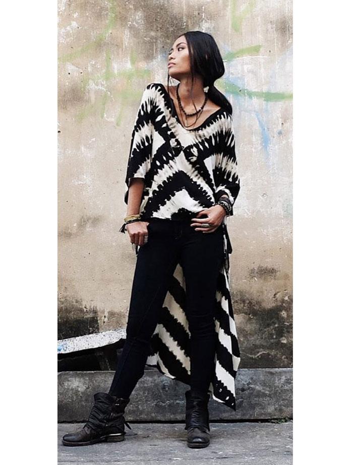 Blusa Cebra Batik Rayon