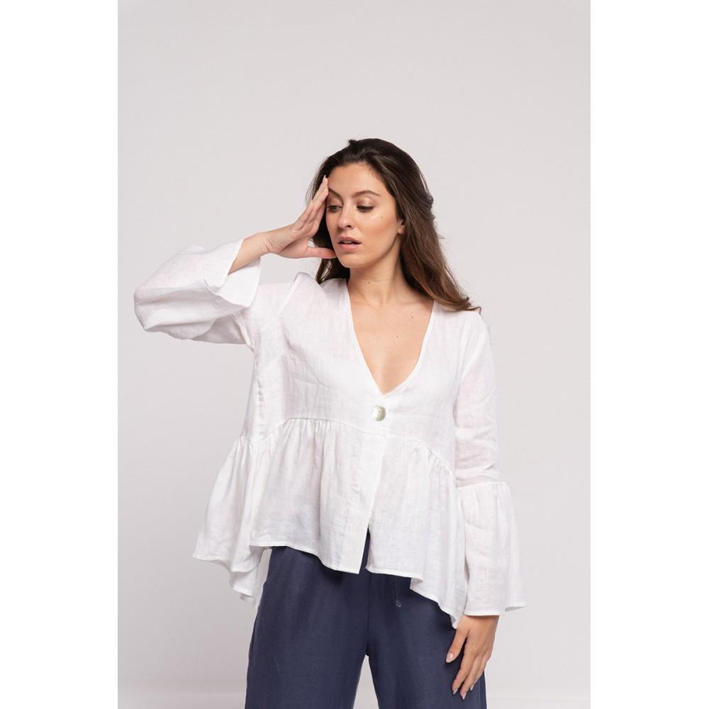 Blusa Túnica Mujer Branco