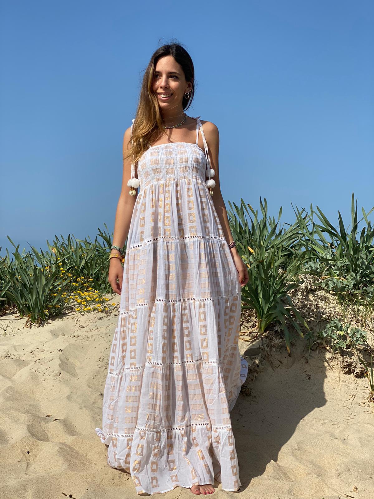 Vestido Casual Boho concha de Mar