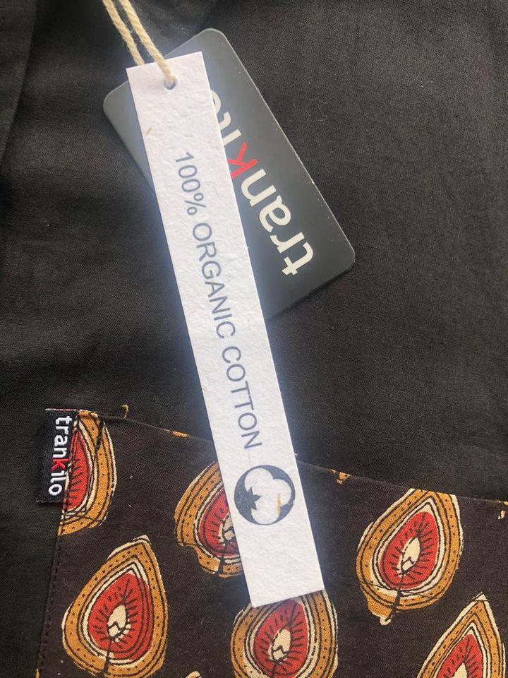 Camisas Trankilo Organic Grava detalle