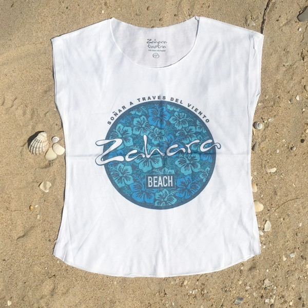 Camiseta-Mujer-Zahara-beach