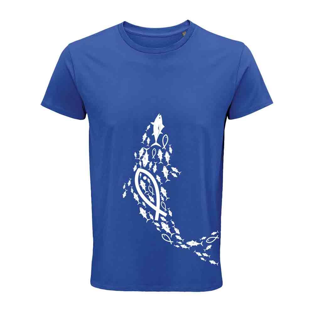 Camiseta Orgánica Atunes de Zahara Azul