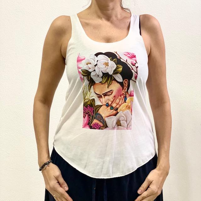 Camiseta Tirantes Frida Kahlo blanco