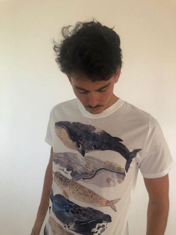 Camiseta Full Ballenas detalle