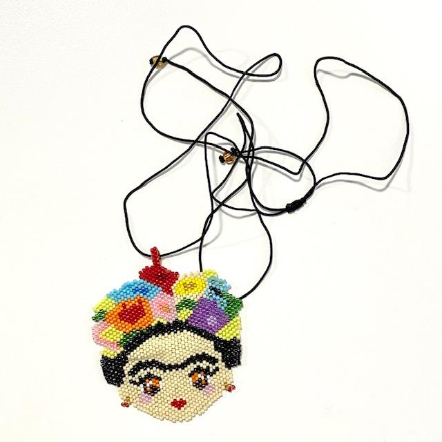 Collar Frida Flores Miyuki Beads