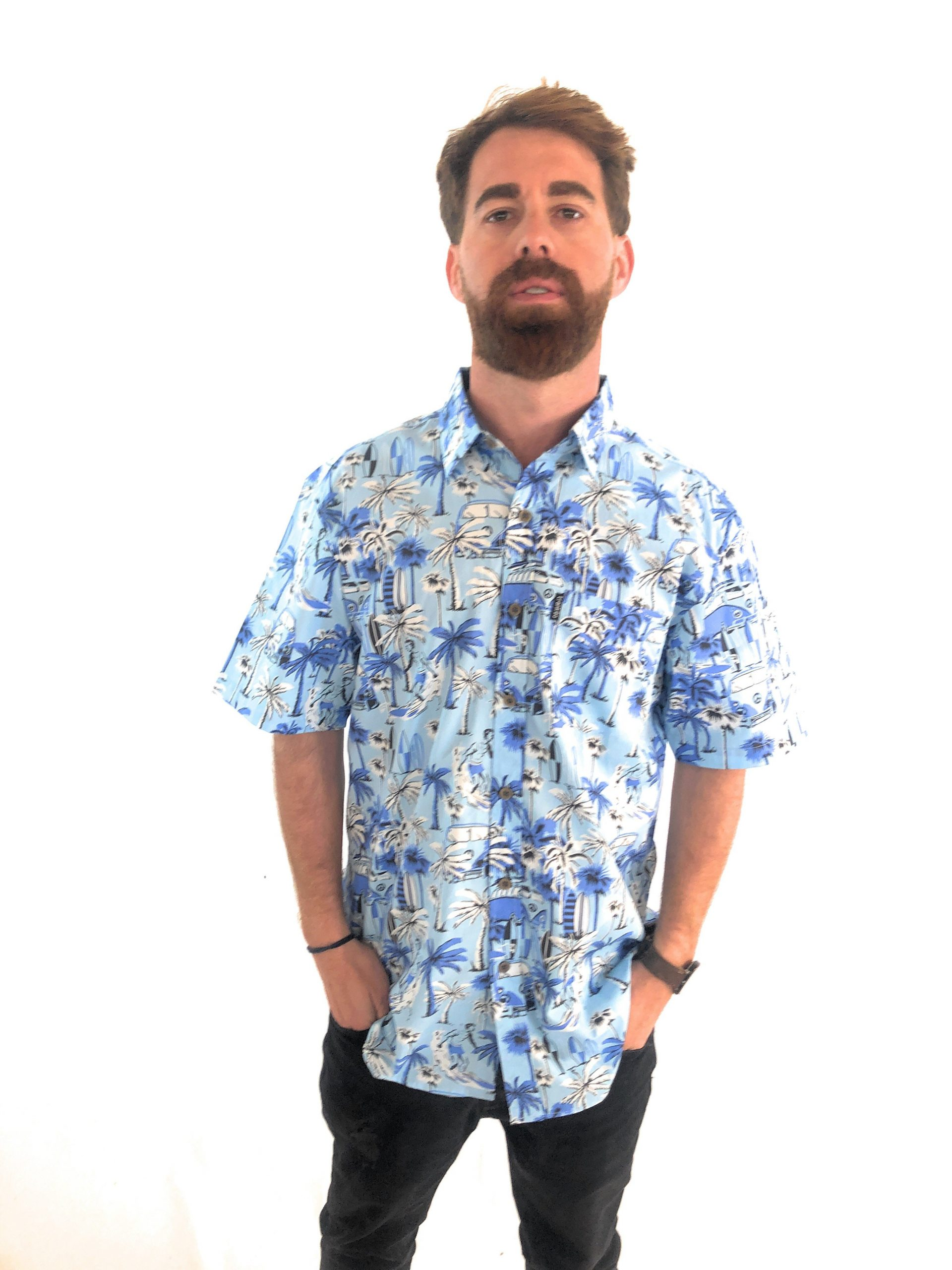 Camisa Trankilo Hawai Azul Tarifa