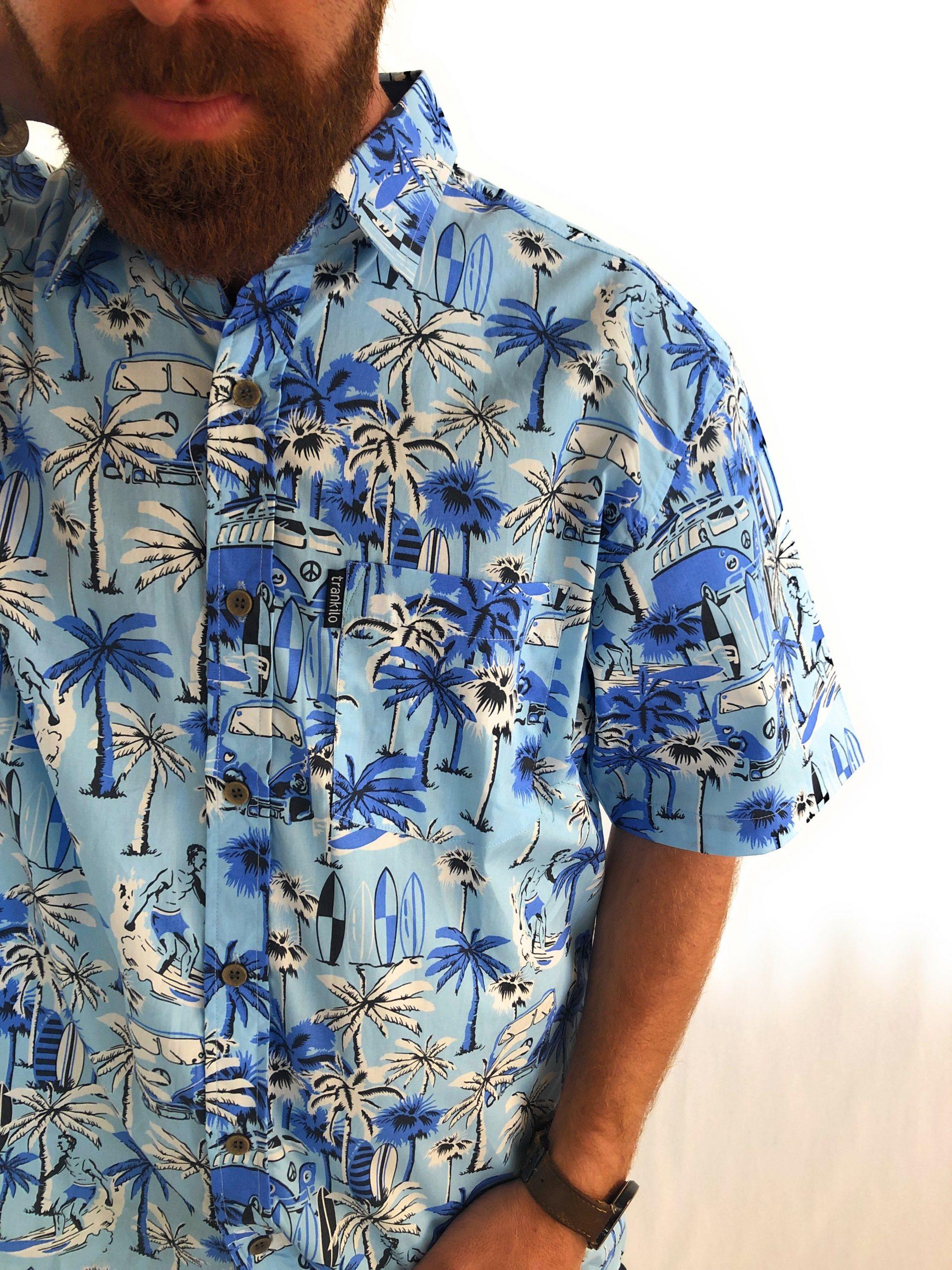 Camisas Trankilo Hawai Azul