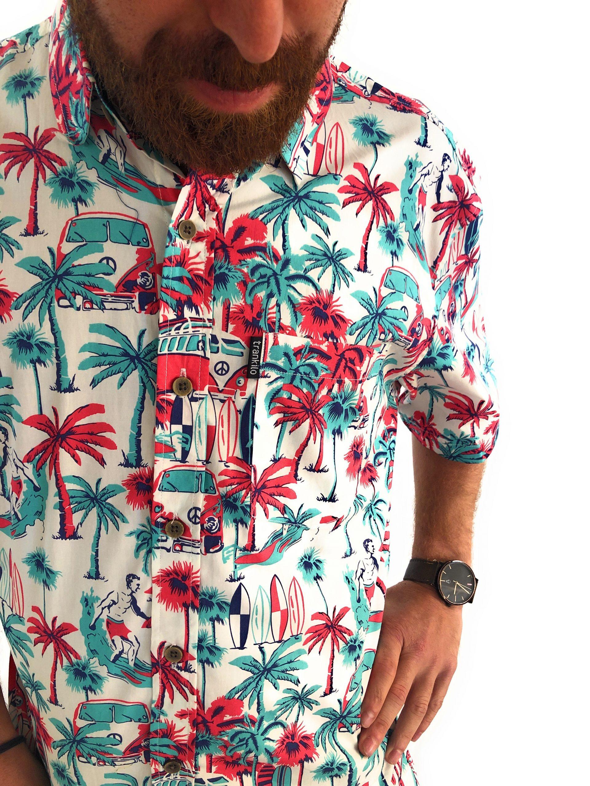 Camisas Trankilo Hawai roja