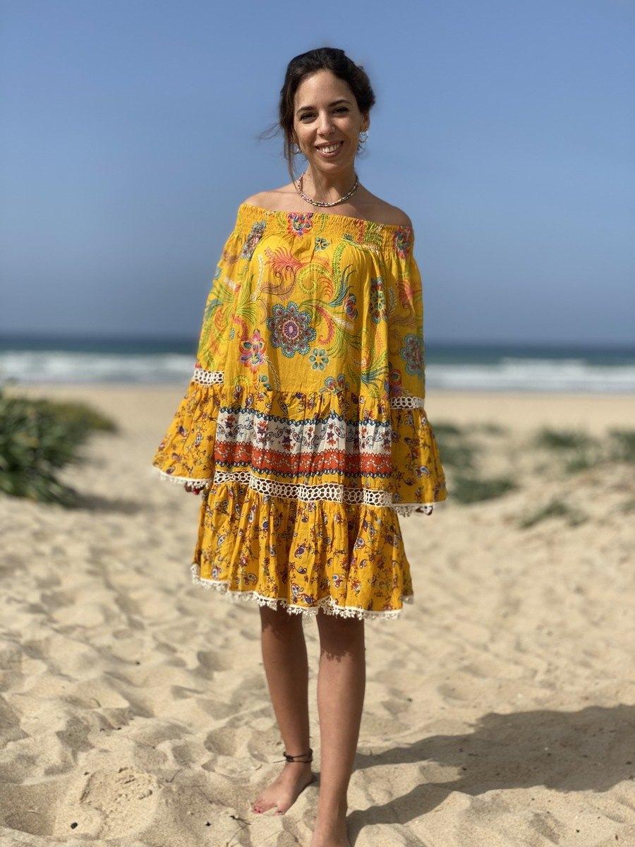 Vestido Camison Boho Mango