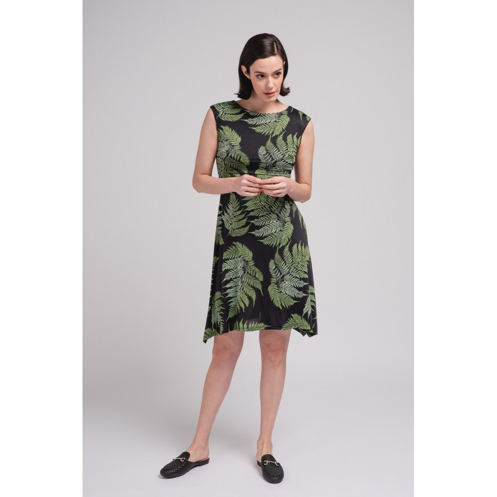 Vestido Midi Mujer Plantas
