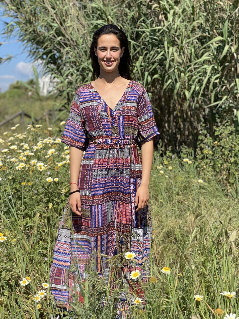 Vestido Mujer Boho Bolonia