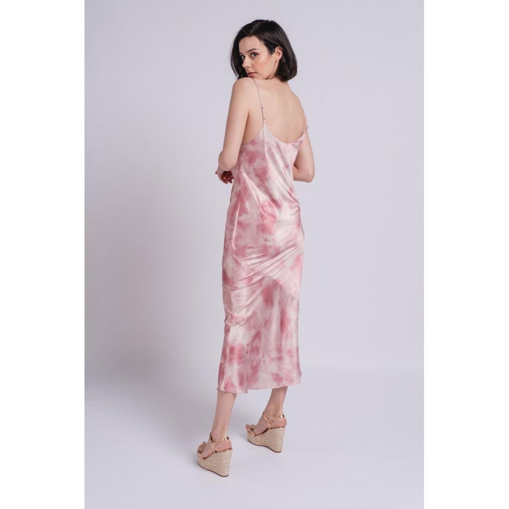 Vestido Satinado Rose