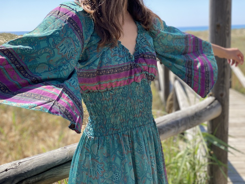 Vestido Seda Almadrava