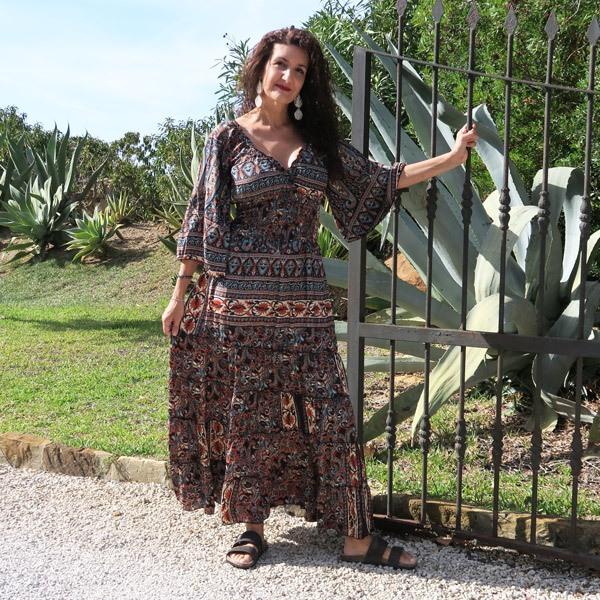 Vestido Vera Zahara Seda