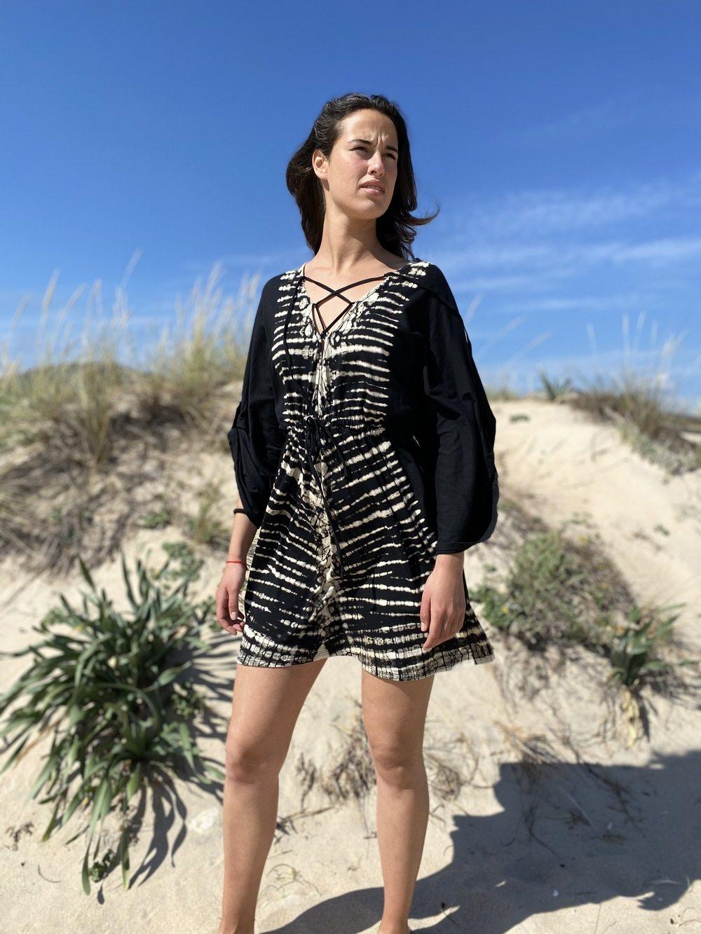 Vestido corto Telva Batik en Rayón Exclusiva