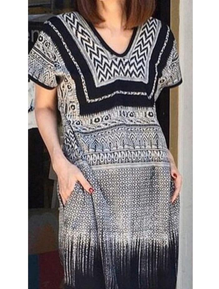 Vestido tunica Africa Batik zahara rayon