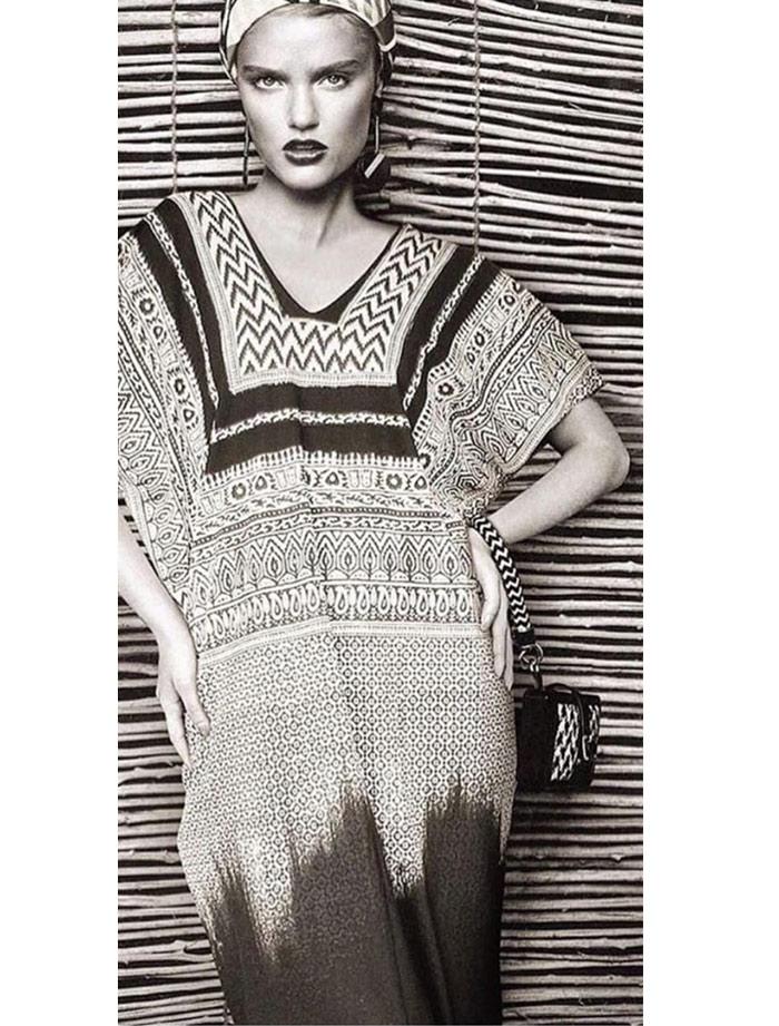 Vestido tunica África batik rayon zahara