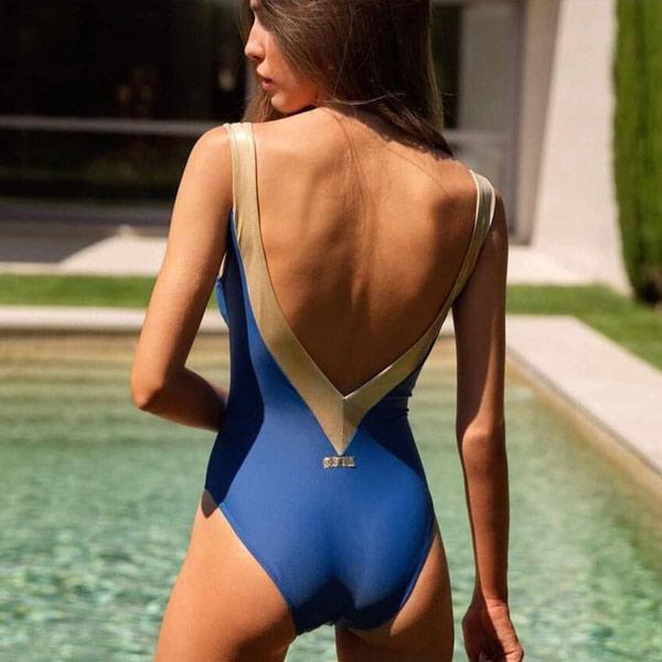 bañador la trastienda azul espalda