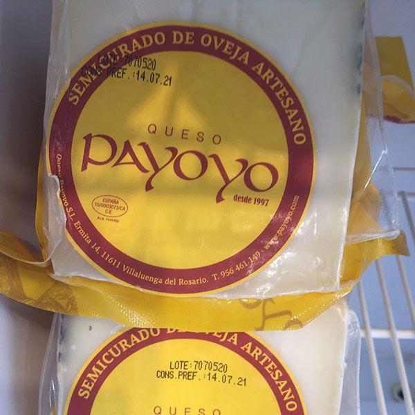 cuña de queso payoyo semicurado de oveja