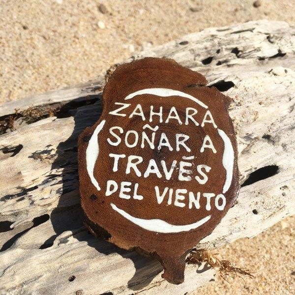 imanes de madera redondo de zahara