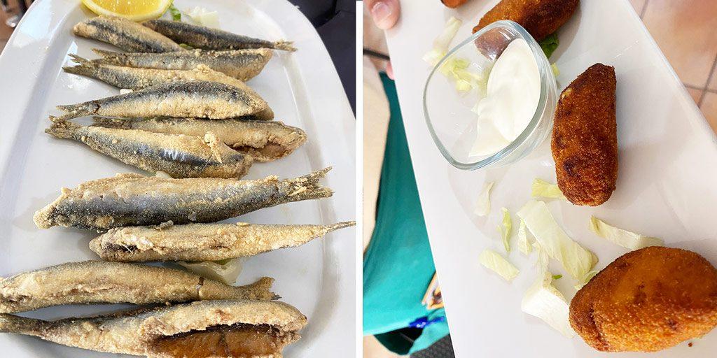 Pescado frito Zahara