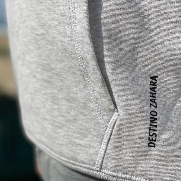 sudadera hoodie destino zahara gris