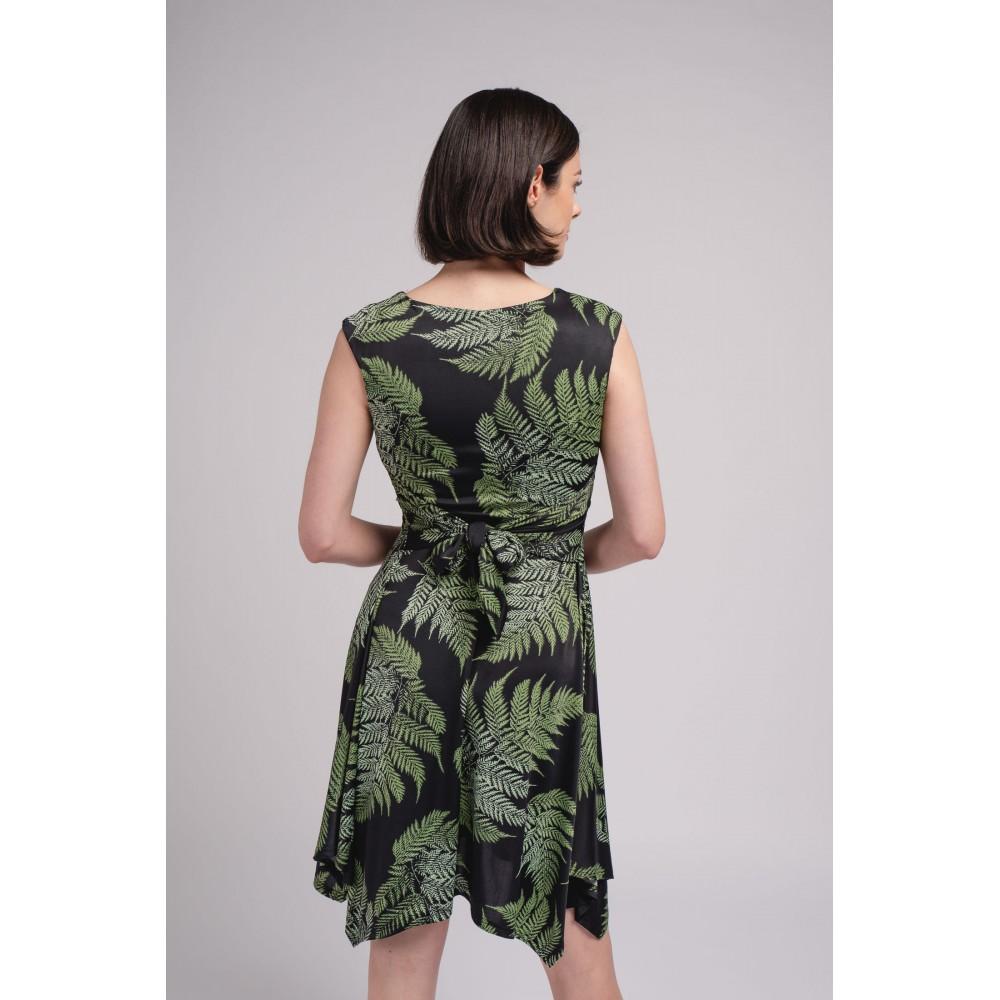 Vestido Midi Mujer Plantas zahara